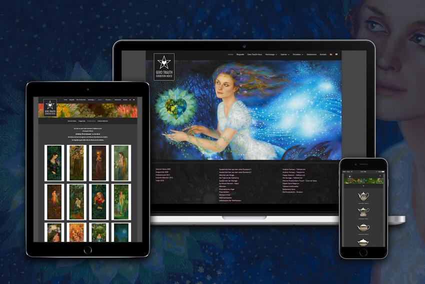 Webseite für den Maler und Illustrator Gero Trauth